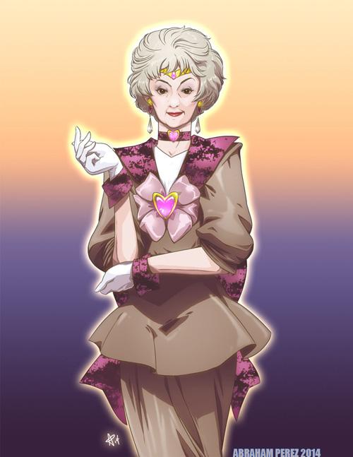 Golden Girls Sailor Moon Mashup Fan Art