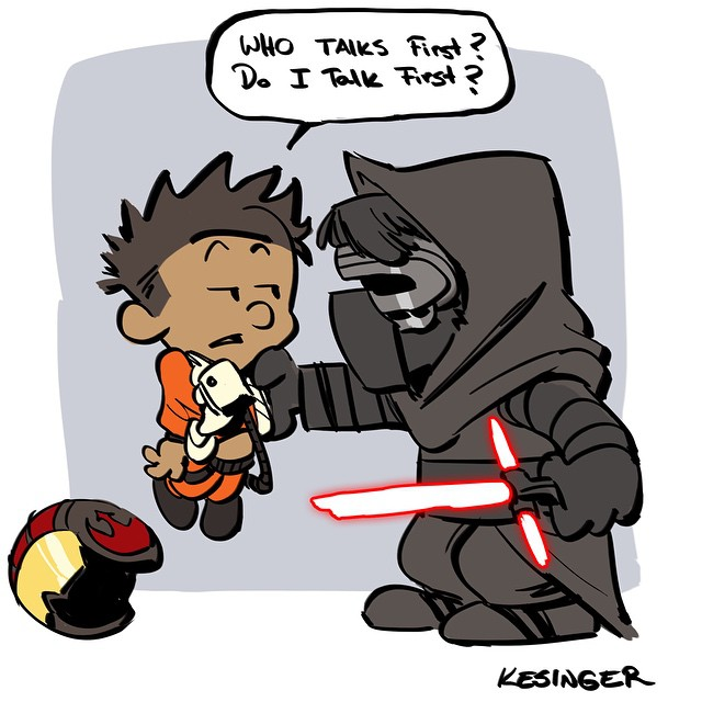 Force Character Design From Life Drawing Pdf Free : Star wars the force awakens calvin and hobbes mashup