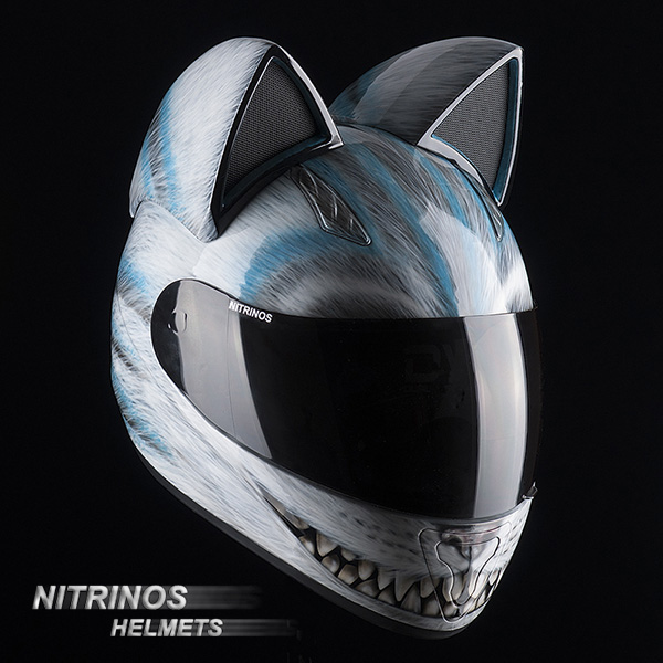 Cat Motorcycle Helmets With Ears