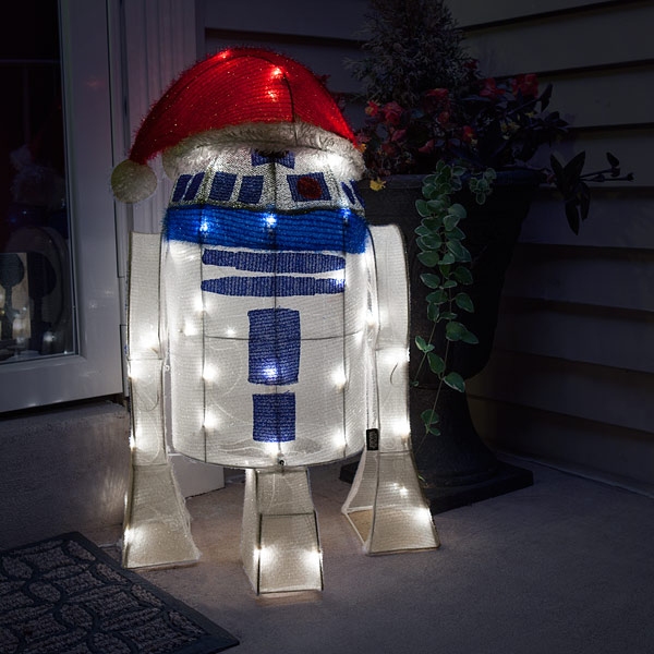 Tardis r2 d2 lighted lawn ornaments aloadofball Image collections