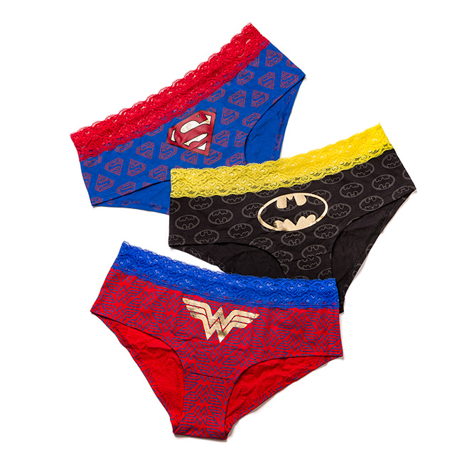 DC Harley Quinn, Superman, Batman & Wonder Woman Panties