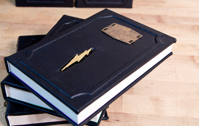 Harry Potter Book Leather Cover : Custom harry potter leatherbound books with horcrux bookmarks