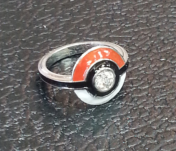 Pokemon Poke Ball Rings