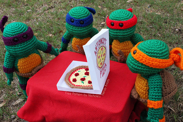Free Crochet Teenage Mutant Ninja Turtle Pattern : Crocheted Teenage Mutant Ninja Turtles