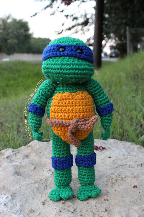 Amigurumi Ninja Turtle : Crocheted Teenage Mutant Ninja Turtles