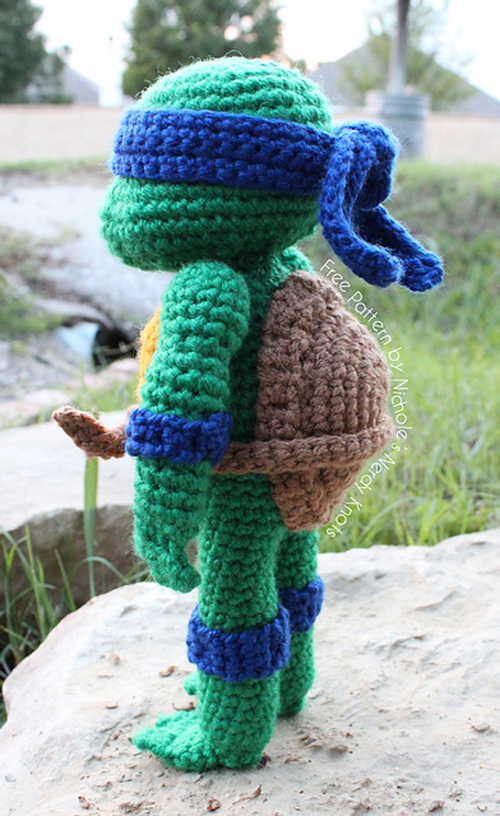 Free Crochet Pattern Teenage Mutant Ninja Turtles : Crocheted Teenage Mutant Ninja Turtles