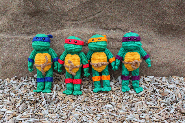 Crochet Ninja Turtle : Crocheted Teenage Mutant Ninja Turtles