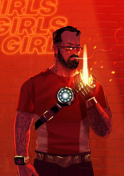 Hipster Avengers Fan Art