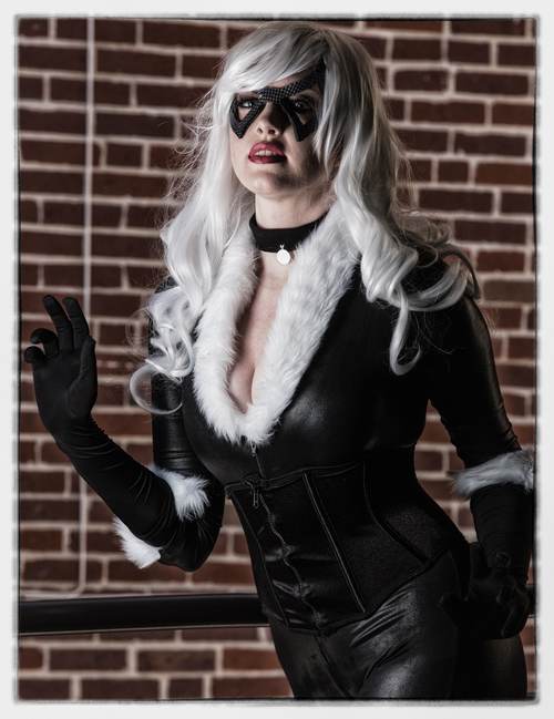 Geek Girl Blackcat Cosplay