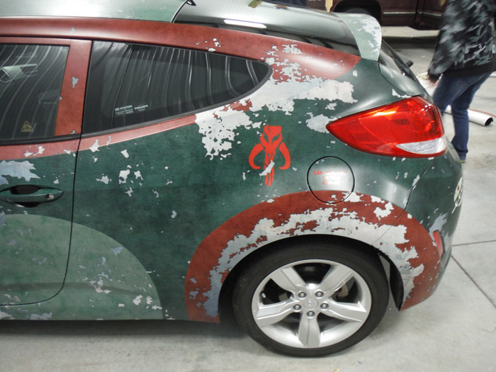 Epic Boba Fett Car Wrap