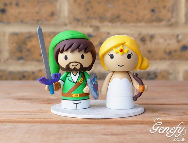 Geek Wedding Cake Toppers