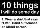 10 Funny Things to Do Some Day