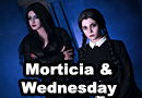 Morticia & Wednesday from The Addams Family Cosplay