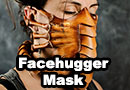 Facehugger Alien Leather Mask