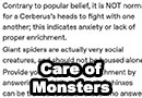 Common Misconceptions Surrounding The Care of Monsters