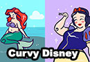 Curvy Disney Ladies Fan Art