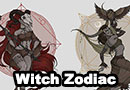 Witch Zodiac Art