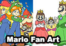 Super Mario Princesses Fan Art