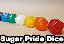 Edible D20 Sugar Pride Dice