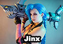 Jinx from League of Legends Cosplay