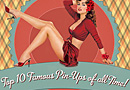 Top 10 Famous Pin-Ups of All Time