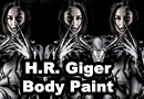 H.R. Giger Body Paint Tribute