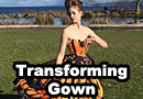 Transforming Cocoon to Butterfly Ball Gown
