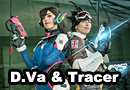 D.Va & Tracer from Overwatch Cosplay