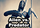 Alien vs. Predator Pole Dance Photoshoot