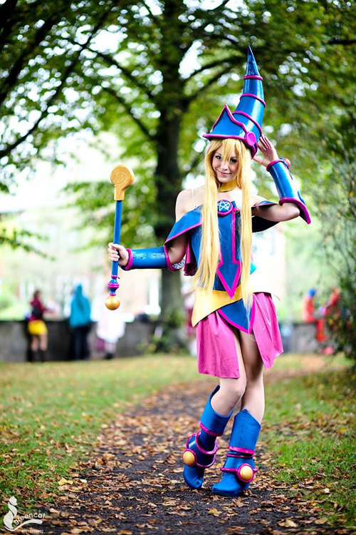 Matchless message, sexy dark magician girl cosplay