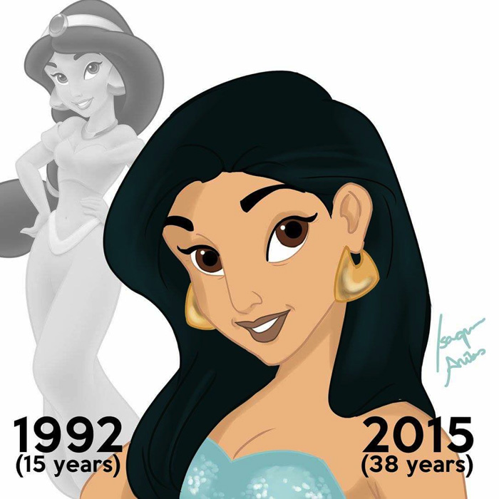 What Disney Princesses Would Look Like Today if They Aged