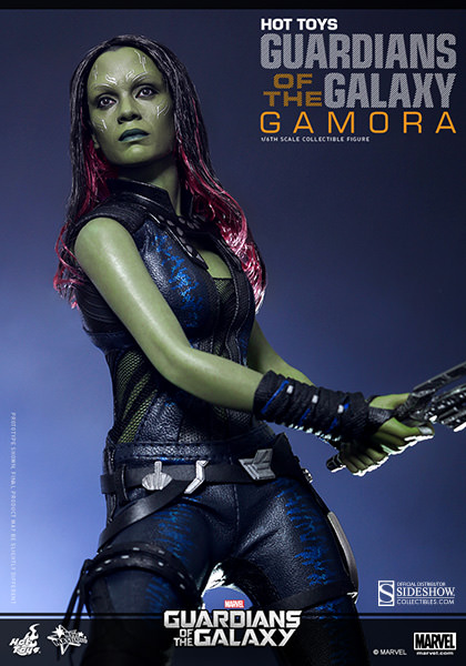 Gamora from Guradians of the Galaxy Sixth Scale Figure + Star-Lord, Rocket & Groot