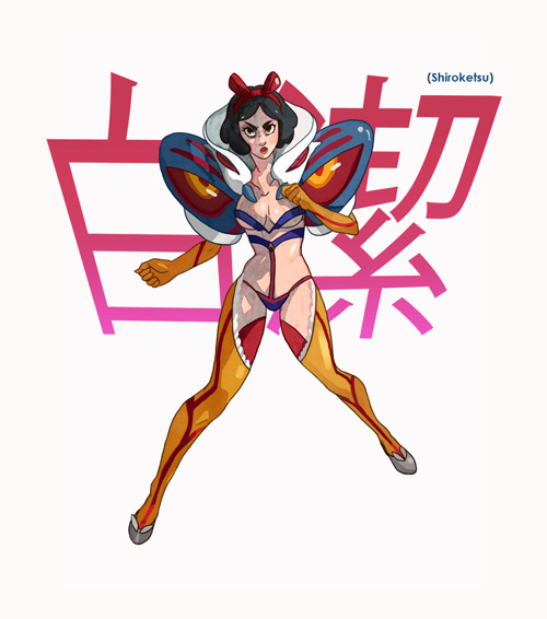 Kill la Kill Disney Princesses Crossover Fan Art