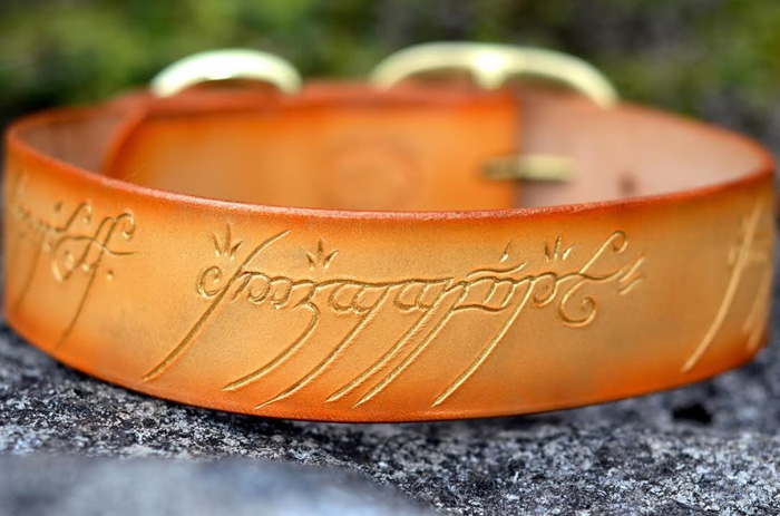 Glow In The Dark Lord Of The Rings One Ring Dog Collar