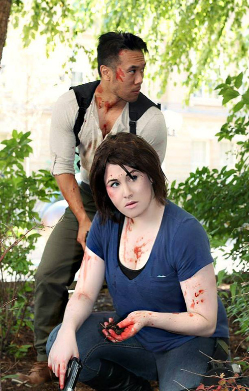 Glenn and maggie cosplay