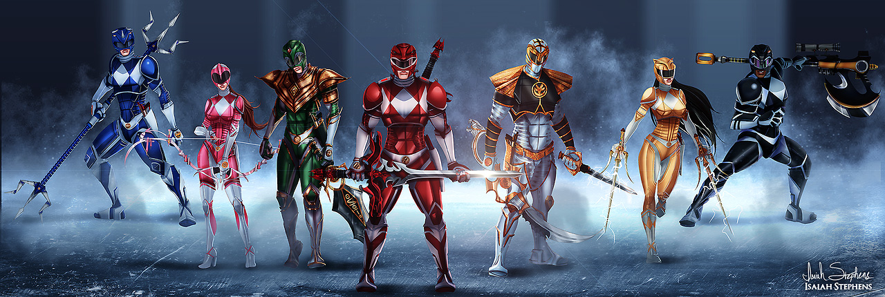 Power Rangers Redesign Fan Art