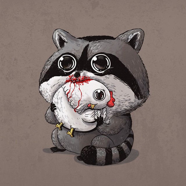 Adorable Predators vs Prey Art