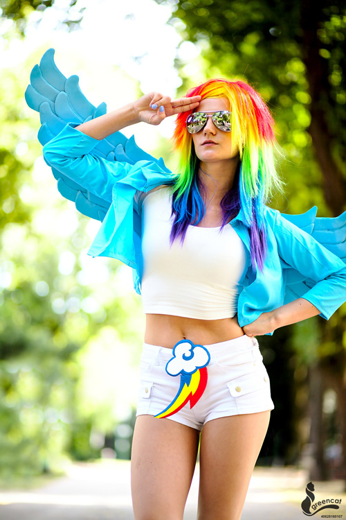 Version of rainbow dash from my little pony friendship is magic