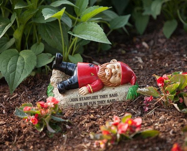 Beautiful Star Trek Garden Gnomes