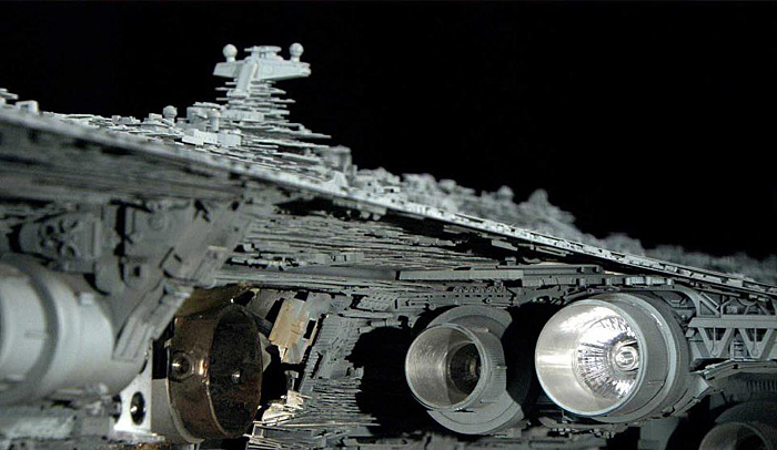 Photos of Ship Models from the Original Star Wars Trilogy