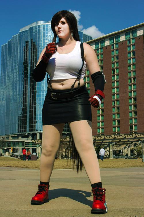 Tifa Lockhart Cosplay Miccostumes women's tifa lockhart cosplay costume outfit. tifa lockhart cosplay