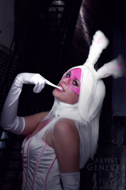 Batman white rabbit cosplay