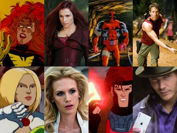 X Men Characters Looks Cartoon Vs Movie