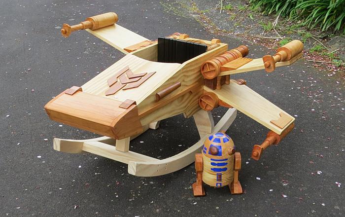 Star Wars Rocking X Wing Fighter